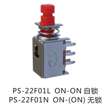 Latching Dpdt Push Button Switch, Power Switch (PS-22F01) pictures & photos