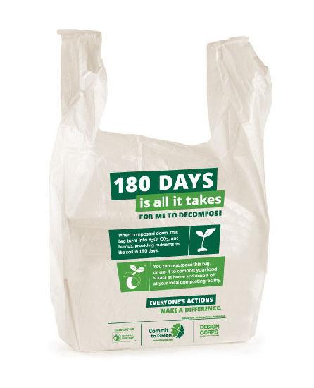 Custom 100% Biodegradable Plastic Bags Wholesale, T-Shirt Bags, Vest Bags