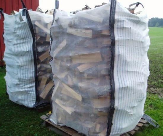 Ventilated Fabric and Mesh Jumbo Bag for Firewood