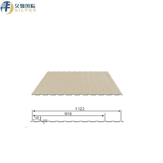 0.4mm PPGI Pre-Painted 918 (1122) mm Width Roofing Sheet for Steel Structure pictures & photos