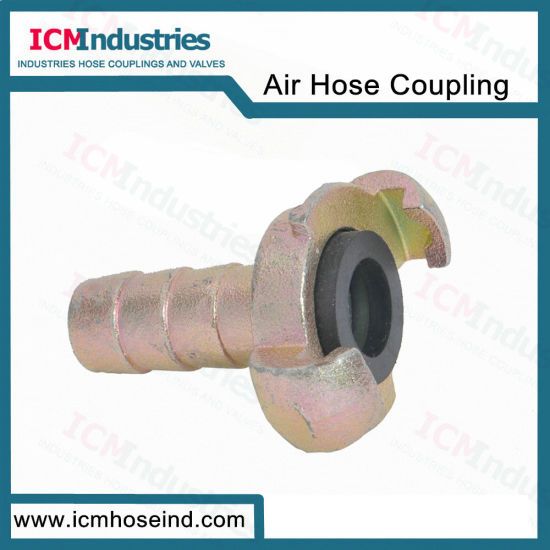 European Rubber Air Fitting Type a Hose End with Collar Air Hose Coupling