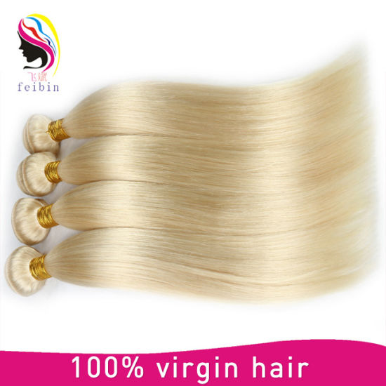 Human Hair Straight Blond Remy Hair Top Quality Mongolian Hair pictures & photos