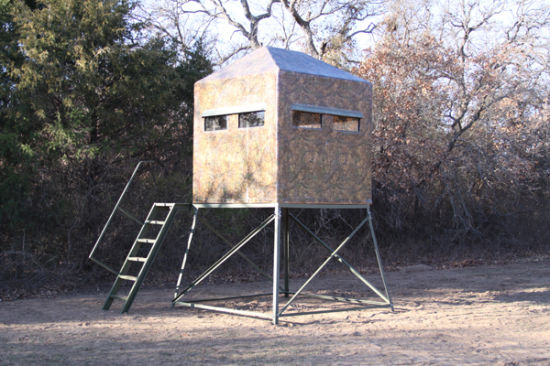 Self Supporting Four Legged Angle Steel Guard Tower pictures & photos