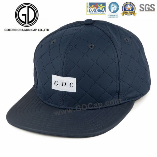 8d16f910f3c China 2016 Modern Cool Blue PU Leather Diamond Quilted Snapback Cap ...