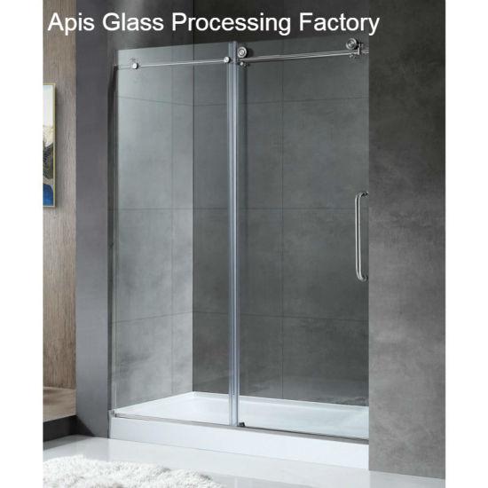 Frameless Showerwallscreenbathubslidingswingingsingle Door