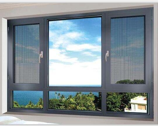 Australian Standard Modern Design Aluminium Casement Window with Casement Stainless Steel Fly Screen (ACW-013)