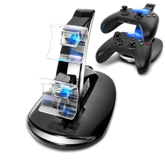USB LED Fast Charging Adapter Stand Dock Station Charger for Dual xBox One Game Controller pictures & photos