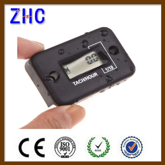 Waterproof Digital LCD Auto Motorcycle Electronic Engine Speed Timer / Counter / Hour Meter