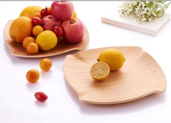 Bamboo Tray Tea Tray Fruit Bowl Fruit Plate Serving Tray pictures & photos