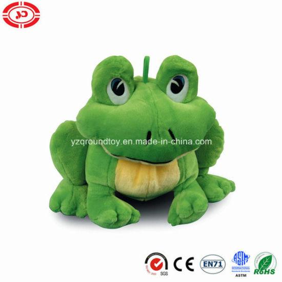 China Giant Soft Stuffed En71 Plush Cute Sitting Green Frog Toy