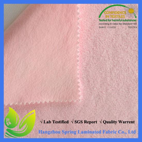 China Pink Coral Fleece Super Soft Waterproof Mattress Protector