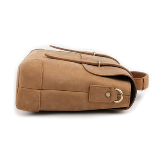 0010165bbb Retro Design Men Khaki Leather Messenger 13.3inches Laptop Bag Leather  Briefcase