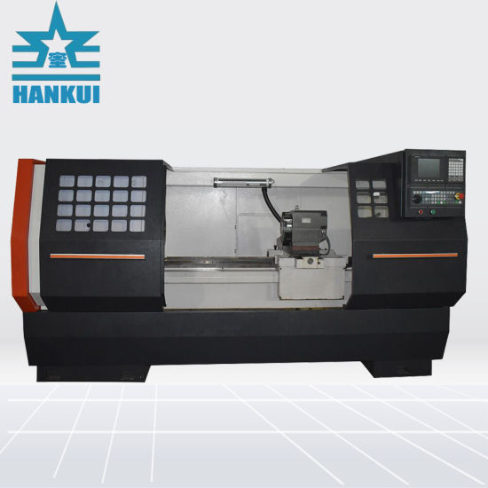 China Ck6136a Flat Bed Machine Cnc Lathe China Horizontal