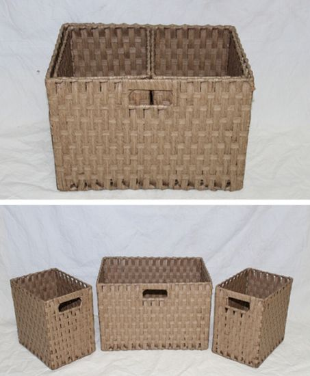 (BC RB1018) Hot Sell Durable Handmade Paper Rope Basket