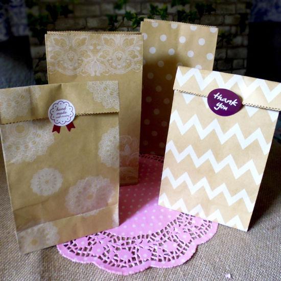 Kraft Paper Bread Packing Bag Wedding Party Decor Baking Toast Takeaway Food Package Cake Bag