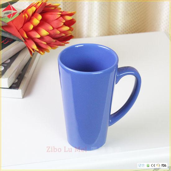 Wholesale Gift Customization Logo Ceramic Color Water Cup Lovers Coffee Cup V-Shaped Mug/Ceramic Mug