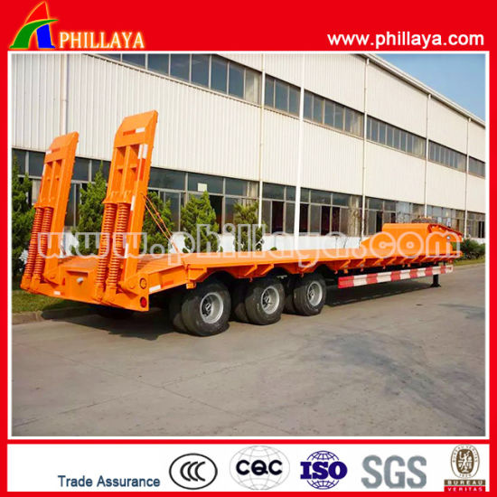 Excavator Gooseneck Machinery Lowbed Loader Semi Trailer pictures & photos