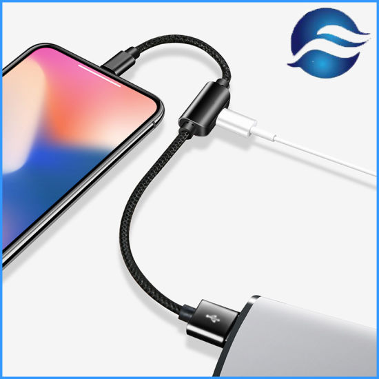 Lightning Earphones Adapter and Charging 2in1 Cable for iPhone 7/7p/8/8p/X