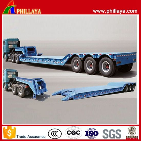 Hydraulic Lowbed Semi Trailer with Detachable Gooseneck pictures & photos