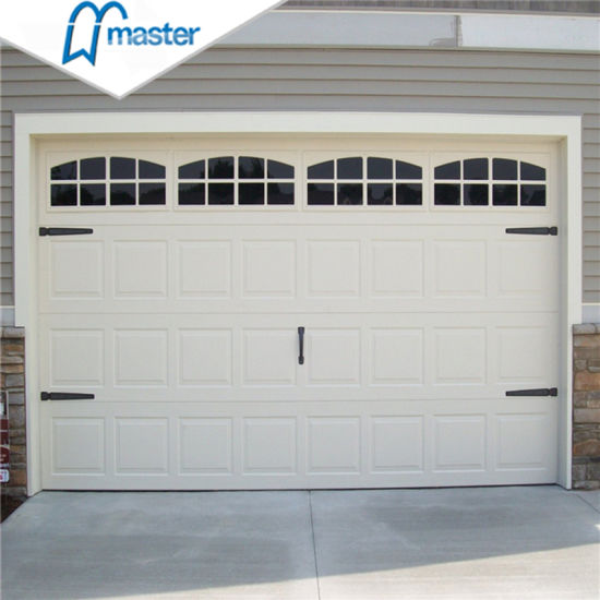 China Commercial Low Headroom Overhead Sectional Garage Doors With