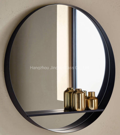 Round Wall Mirror Black Metal Frame Iron Frame Bathroom Mirror China Mirror Frame Mirror Made In China Com