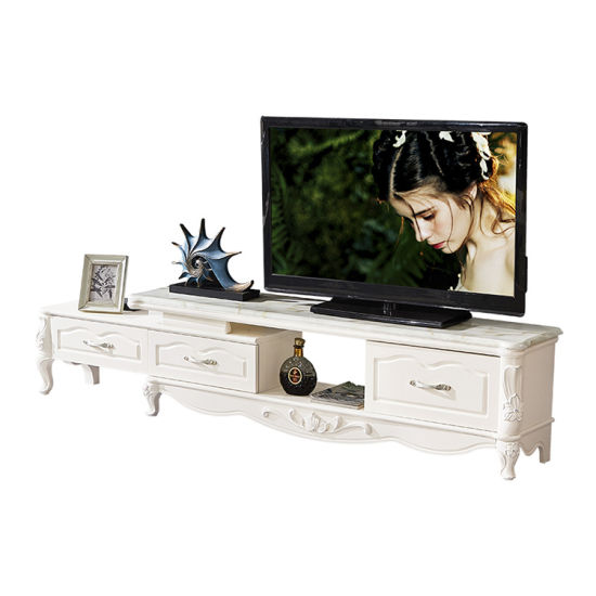 Living Room Luxury European MDF Marble TV Stand and Center Table Furniture