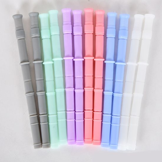 Custom Clear Eco-Friendly Soft Flexible Foldable Reusable Silicone Straw pictures & photos