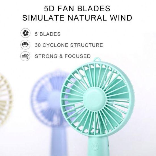 Silica Gel Mini Fan Mini USB Fan Microphone Portable Electric Fan Pink