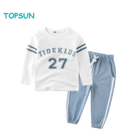 Spring Baby Boy 2PCS Tracksuit Set, Sweatshirt+Pant for Toddler Sweatsuit Outfit