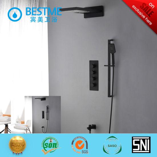 High Quality Luxury Rectangular Waterfall Faucet Showerhead Bathroom Shower Tbf-61005
