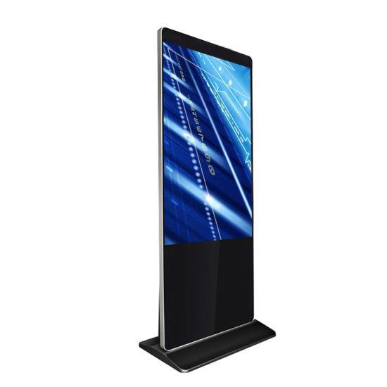 2019 Hot New Narrow Bezel 43 55 Inch Freestanding Touch Screen Digital Signage Interactive Kiosk