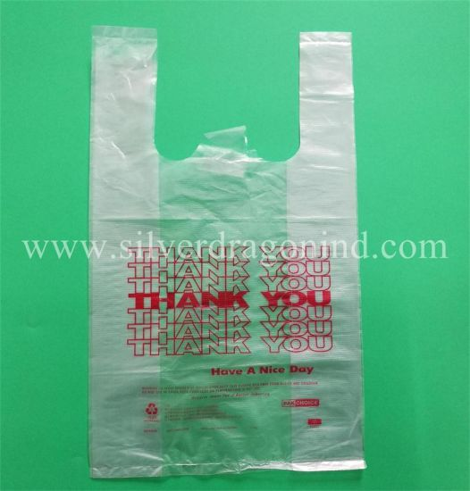 Plastic Poly Clear Thank You Bag T-Shirt Shopping Bags pictures & photos