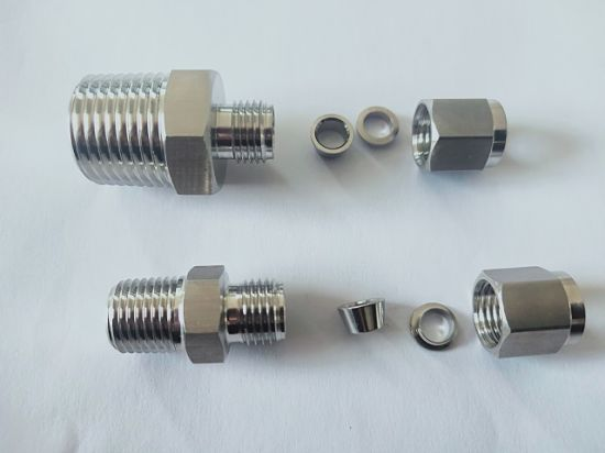 SS316 Straight NPT 1/4od 1/2 NPT Male Connector with IATF16949