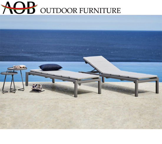 Wholesale Leisure Outdoor Garden Hotel Home Patio Furniture Lounge Daybed Aluminium Lying Bed Reclining Chair Sunbed