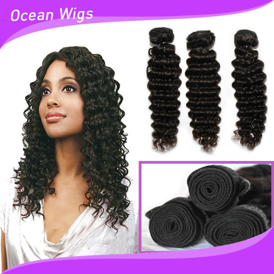 Deep Wave Virgin Remy Brazilian Full Lace Wig pictures & photos