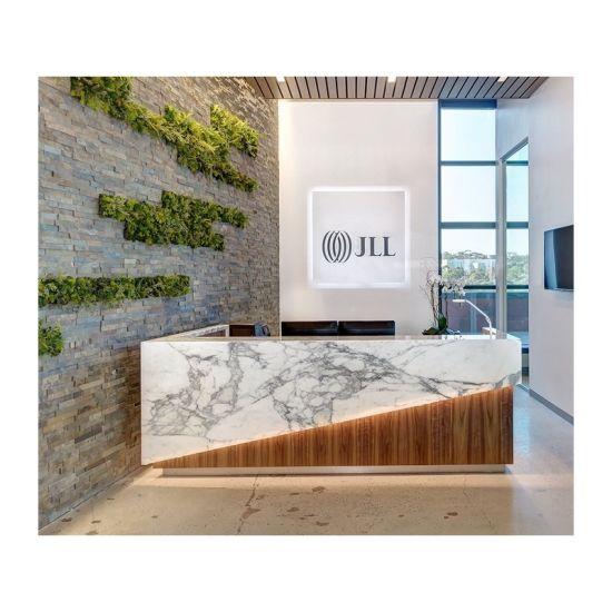 Marble Stone Reception Desk Modern
