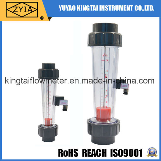 Plastic Tube Flowmeter with Alarm Limit Switch