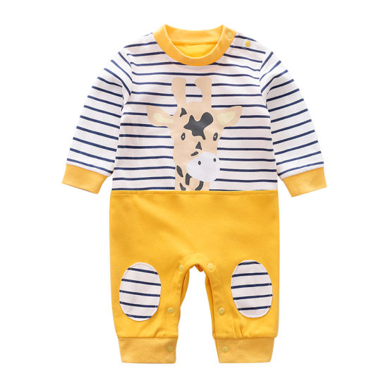 100% Cotton Long Sleeve 3-24 M Baby Romper Clothes for Spring and Autumn Giraffe Print Children Clothes pictures & photos