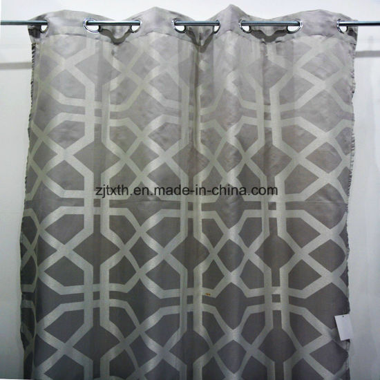 China Jacquard Thin Black and White Window Curtain Fabric - China ...