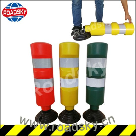 Reflective Road Construction Flexible Plastic Traffic Warning Post pictures & photos