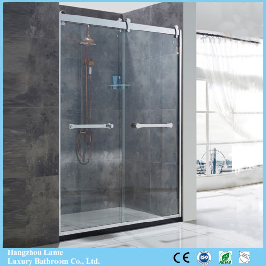 China Best Sale Tempered Glass Shower Screen In Stainless Steel