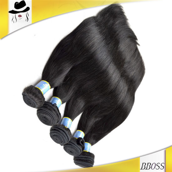 Natural Straight 10A Brazilian Human Hair pictures & photos