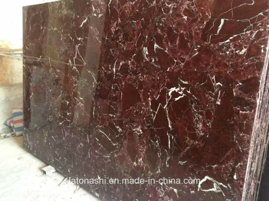 Polished China Rosso Levanto Red Marble For Floor Tiles And Countertop Slabs
