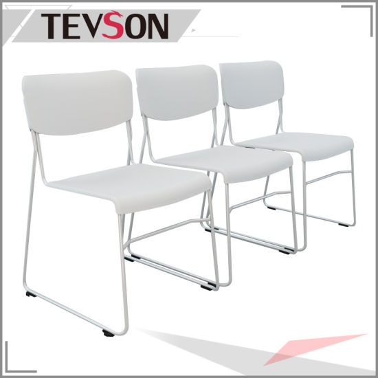Modern Stackable Office Chair Colorful Plastic Meeting Training Room Metal  Chairs