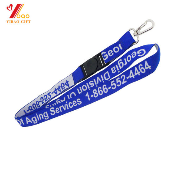 High Quality Polyester Lanyard with Screen Printing (YB-l-027) pictures & photos