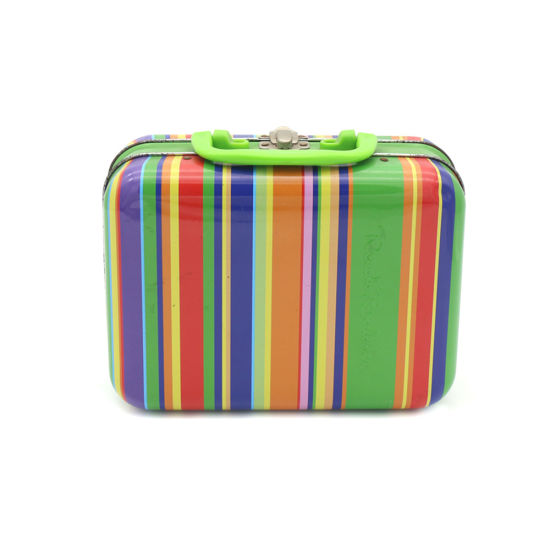 Rainbow Series Printed Lunch Metal Tin Box