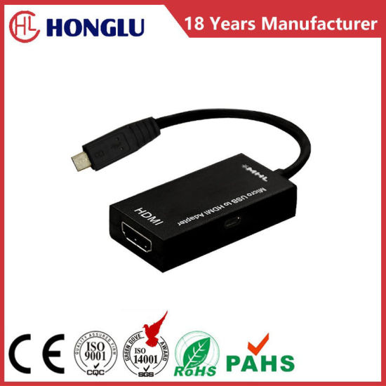 Mhl HDMI a Female to Micro USB 2.0 Adapter pictures & photos