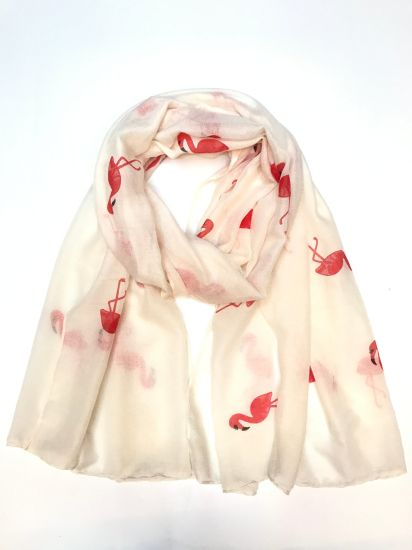 Ladies Fashion Polyester Scarves with Foil