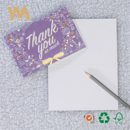 China Simple Design Customized Printing Thank You Cards China