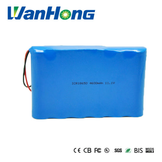 18650 4600mAh 11.1V Li-ion Battery Pack Rechargeable Li Ion Lithium Battery for Security and Protection Syastem
